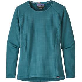 Patagonia R1 Langærmet T-shirt Damer petroleumsgrøn